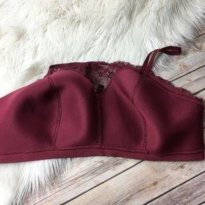 torrid Intimates & Sleepwear - Torrid Bralette Burgundy Red Lace Lined Size 3X